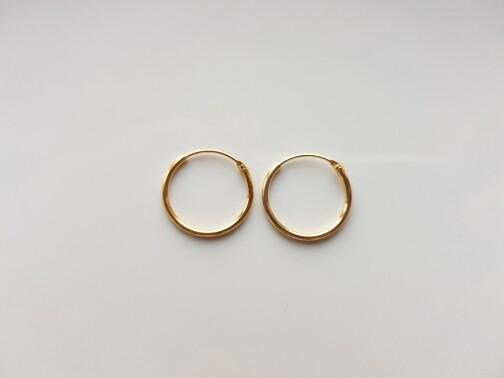Oorringetjes 12 mm goud gold plated