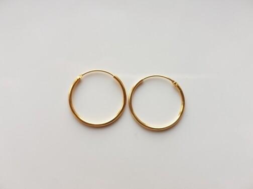 Oorringetjes 18 mm goud gold plated