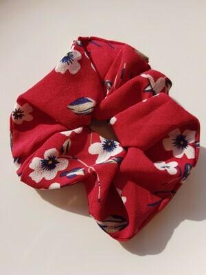 Violet flower scrunchie