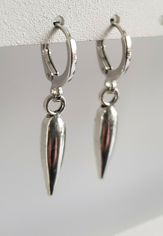 Pegel oorbellen zilver