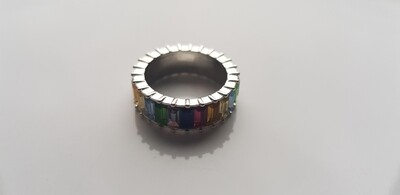 Colorful ring 925 sterling zilver