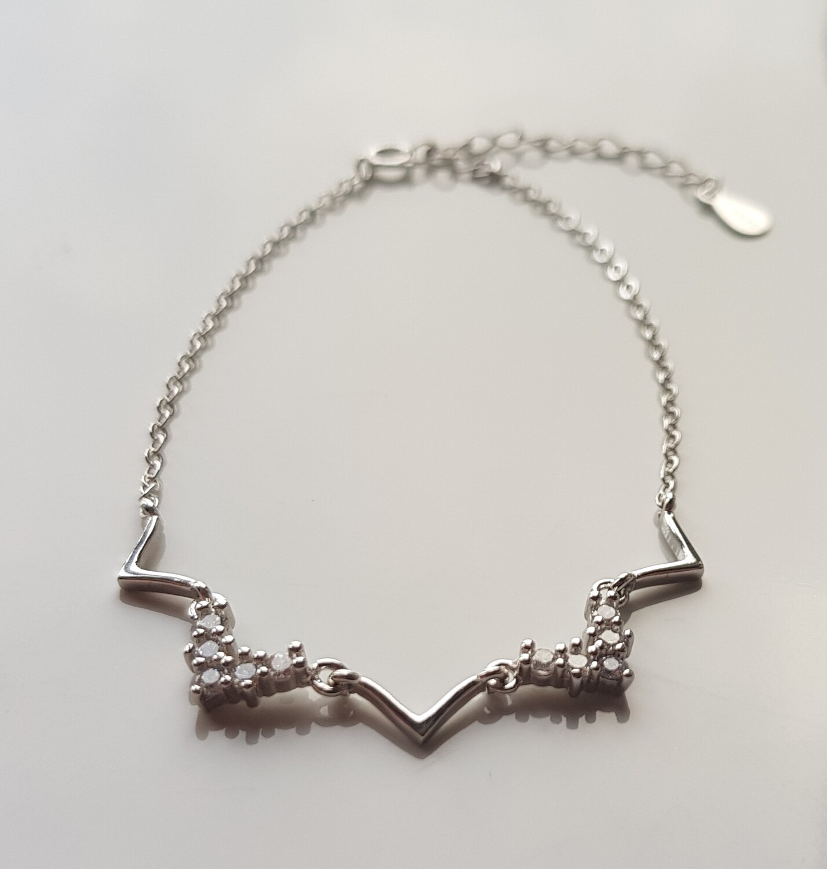 Tiara armbandje 925 sterling zilver