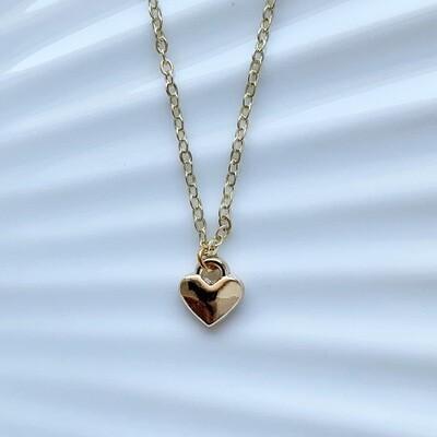 Tiny heart ketting goud