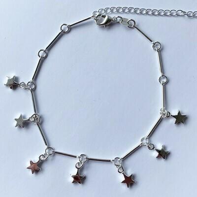 Enkelbandje met sterren 925 sterling zilver