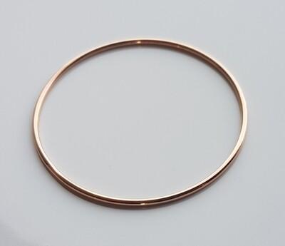 Minimalistische armband roségoud stainless steel