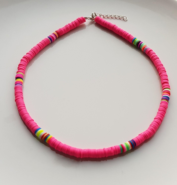 Colorful choker roze