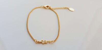 Tiny snake armbandje goud