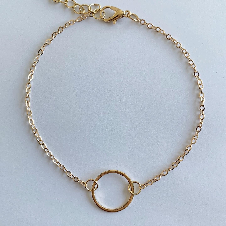 Circle enkelbandje goud