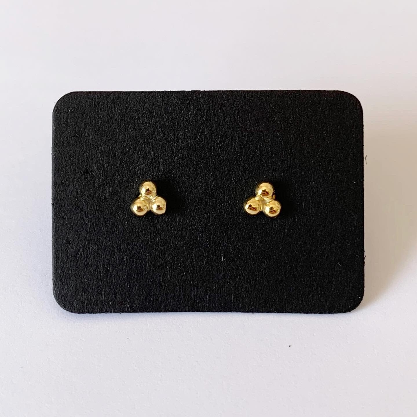Dots knopjes gold plated