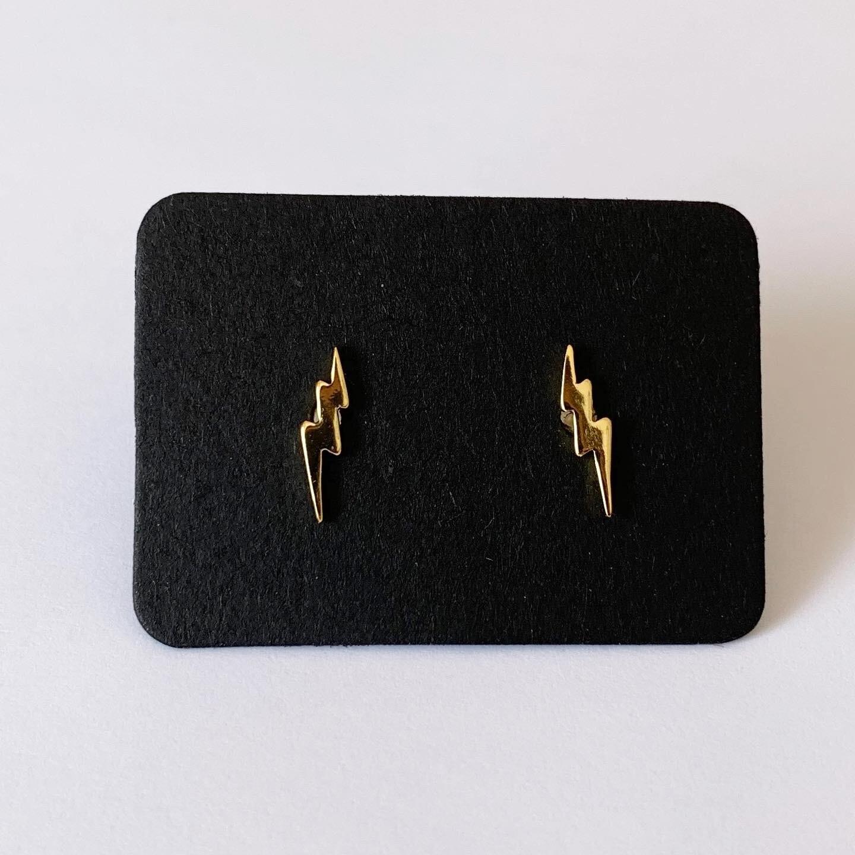 Lightning knopjes gold plated