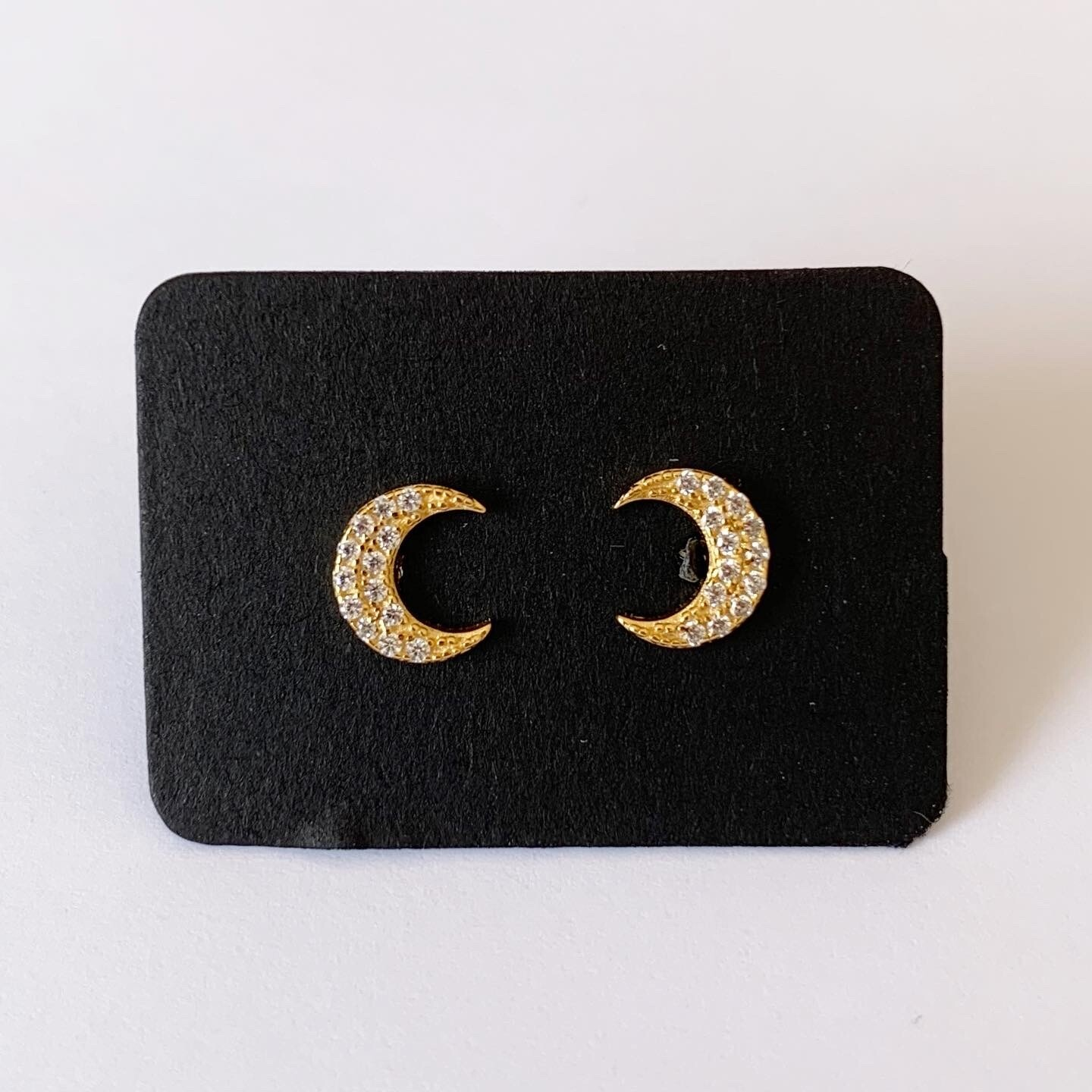 Shiny moon knopjes gold plated