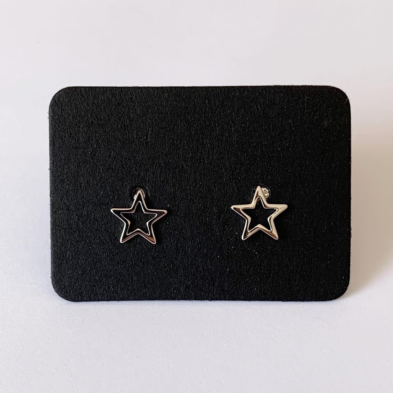 Open star knopjes 925 sterling zilver