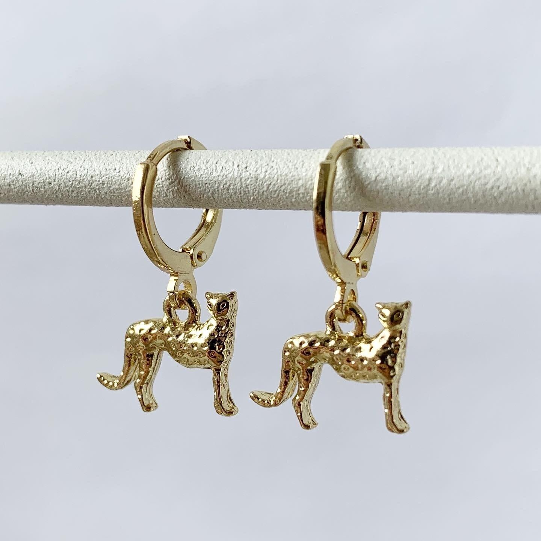 Luipaard oorbellen goud