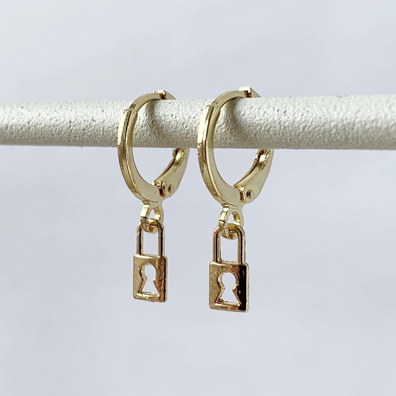 Tiny lock oorbellen goud