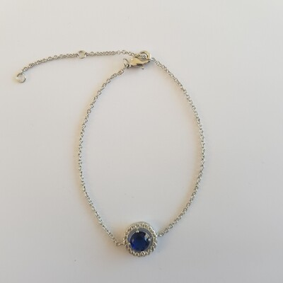 Diamant armbandje blauw