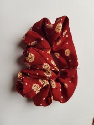 Dandelion scrunchie rood