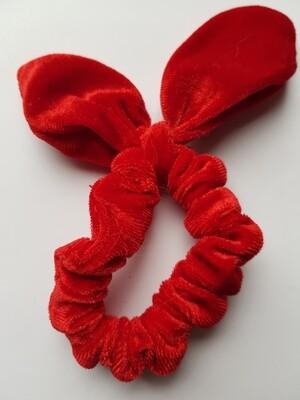 Bunny oortjes scrunchie rood