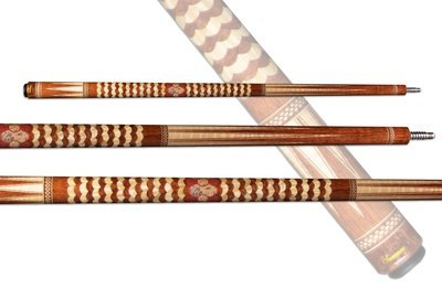 Samsara Twisted Cue - Waterfall Bubinga, Curly Maple, Pink Ivory & Crazy Lace