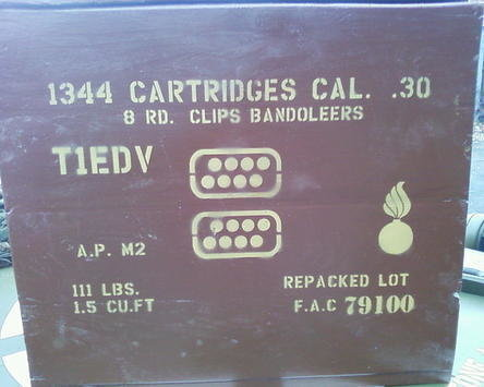 8 rd Bandoleer box stencil set for re-enactors ww2 army Jeep prop