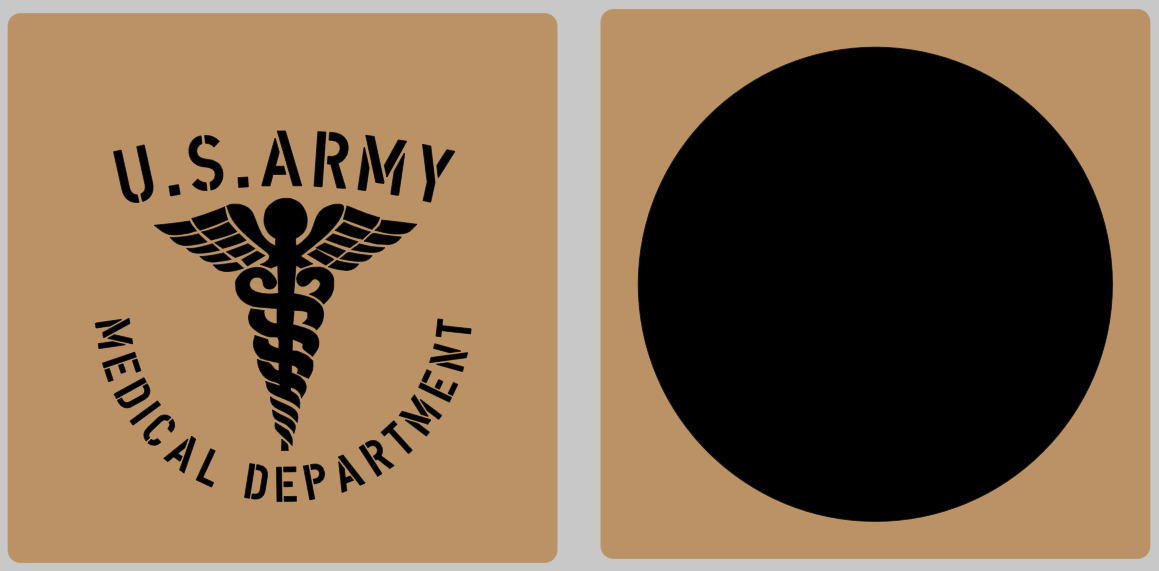 Medical caduceus stencil set (med 2) stencil set for re-enactors ww2 army prop