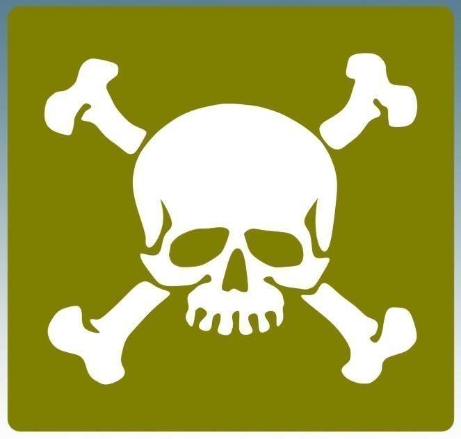 Skull and crossbones stencil for re-enactors ww2 army Whites halftrack Diamond T