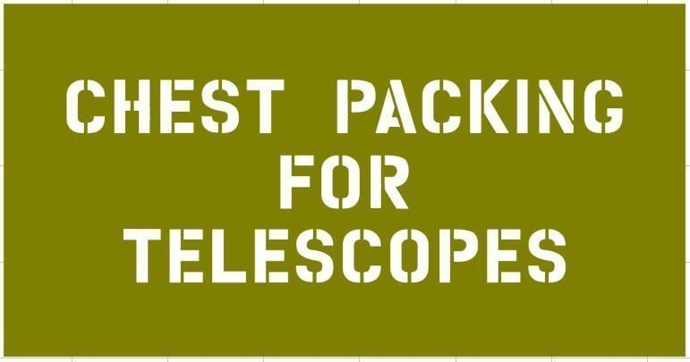 Telescope box stencil for re-enactors ww2 army prop