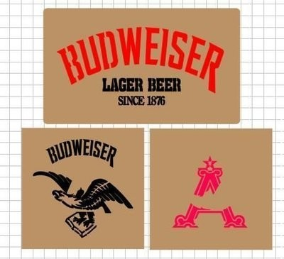 Budweiser beer box Stencil set