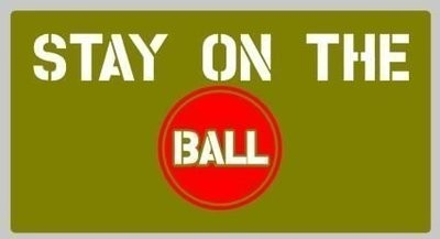 Stay on the ball stencil set for re-enactors ww2 army prop