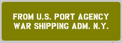 Jeep shipping detail Port agency stencil Jeep military vehicle ww2 army