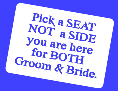 Pick a seat, Wedding stencil reusable