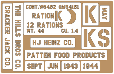 K Ration crate stencils inc plans to build stencil set for re-enactors ww2 army prop