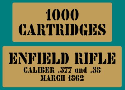 Enfield Rifle Cartridges stencil American Civil war stencil set for re-en-actors as a prop
