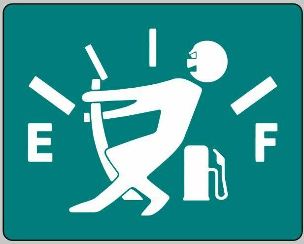 """""""Fuel Saver"""" funny logo sticker"""