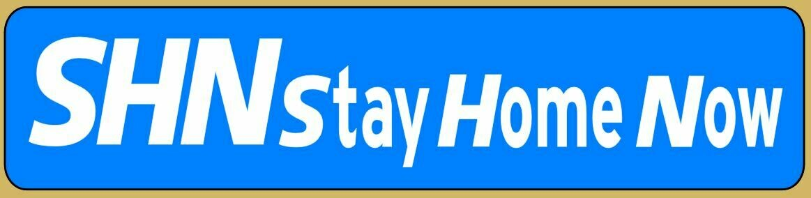 Support the NHS and care workers SHN Stay Home Now logo sticker Decal