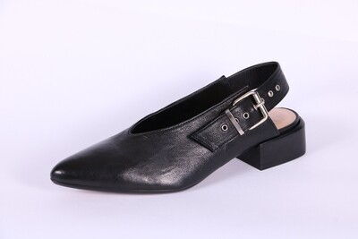 SALVADOR RIBES CHANEL IN PELLE NERA TACCO 3 CM