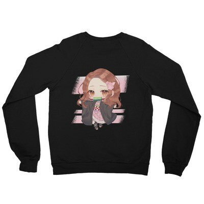 Shar-zuko Street 100% Cotton Unisex California Fleece Raglan Sweatshirt