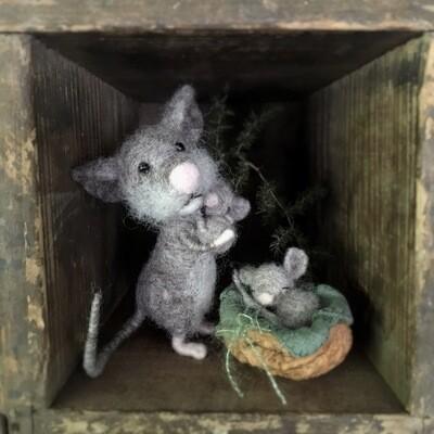 Maus mit Baby