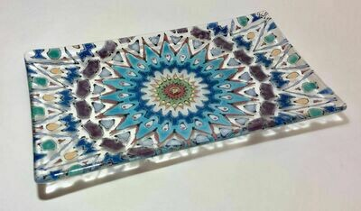Long hand painted dish