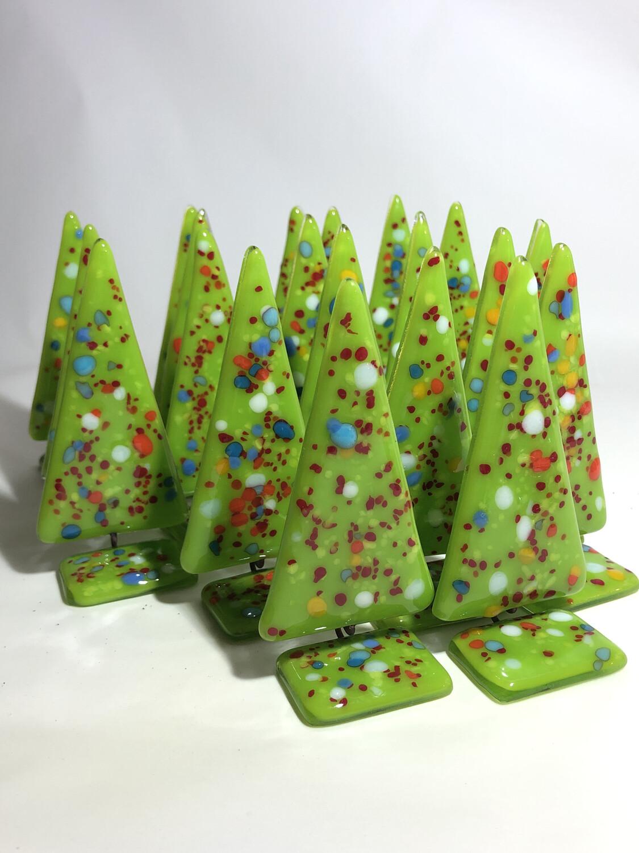 Bright Green Christmas Trees
