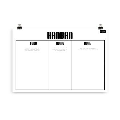 Kanban Poster for Task Management