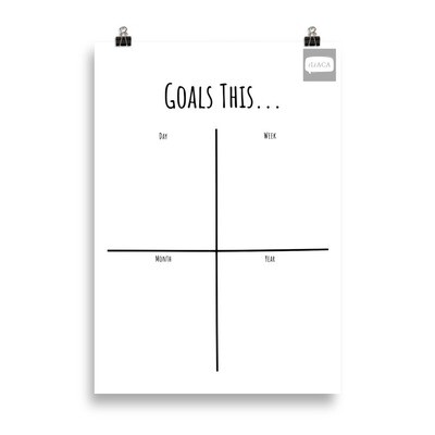 Goal Flow Matrix Poster