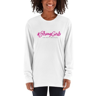 #StrongGirls Pink & Black Logo Long Sleeve Shirt
