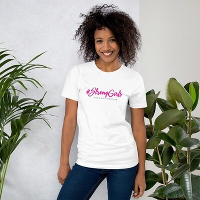 #StrongGirls Pink & Black Logo T-Shirt