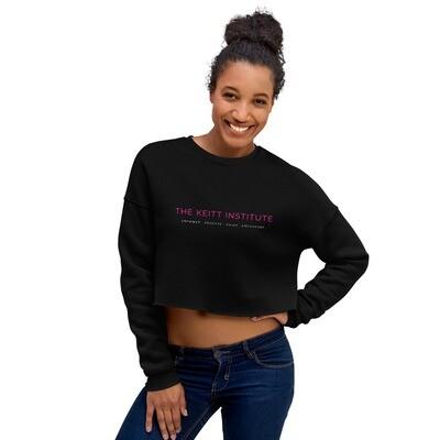 Keitt Institute Pink White Logo Crop Sweatshirt