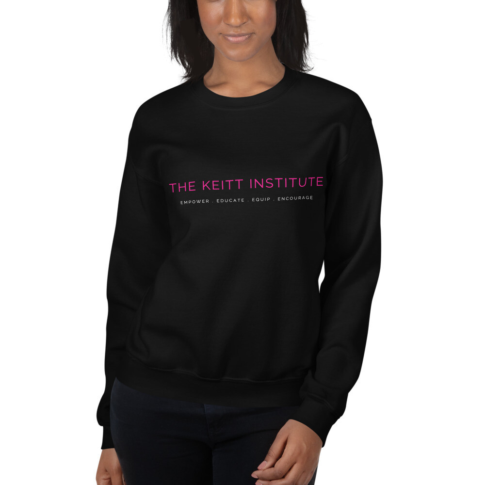 Keitt Institute Pink White Logo Sweatshirt