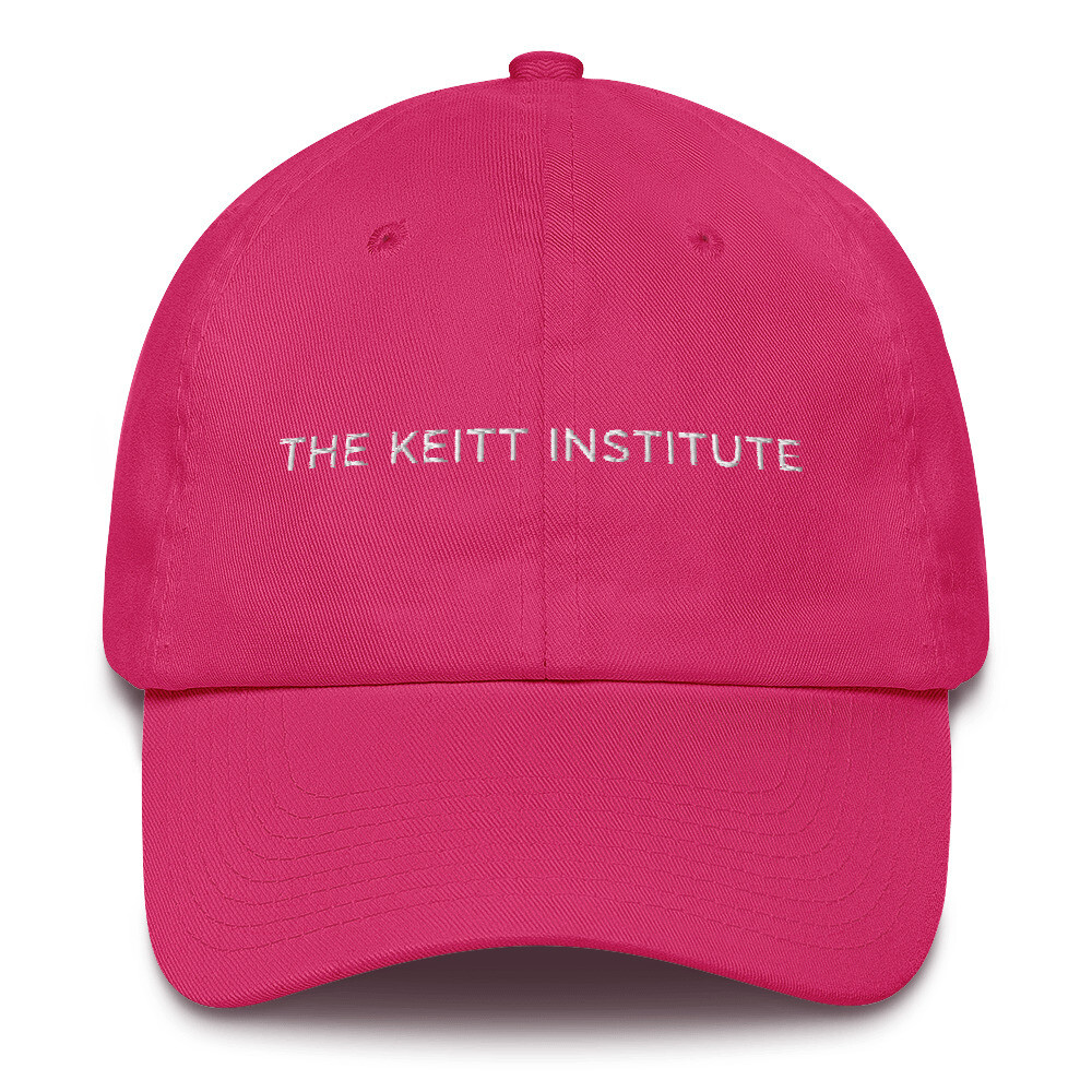 Keitt Institute White Logo Dad Cap