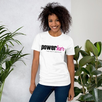 PowerHer Pink & Black Logo T-Shirt