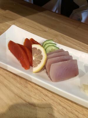 128. Tuna & Salmon Sashimi
