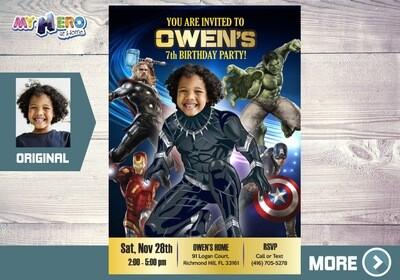 Black Panther Invitation. Black Panther Birthday. Black Panther Avengers Party Ideas. Black Panther Costume. Black Panther Cake. 170