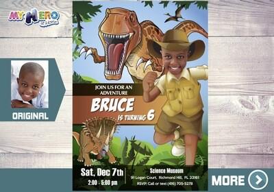 Dinosaurs Party. Dinosaurs Invitation. 208
